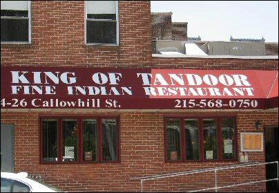 king of tandoor callowhill st