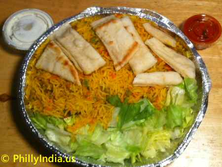 Vegetable Biryani in Philadelphia image © PhillyIndia.us